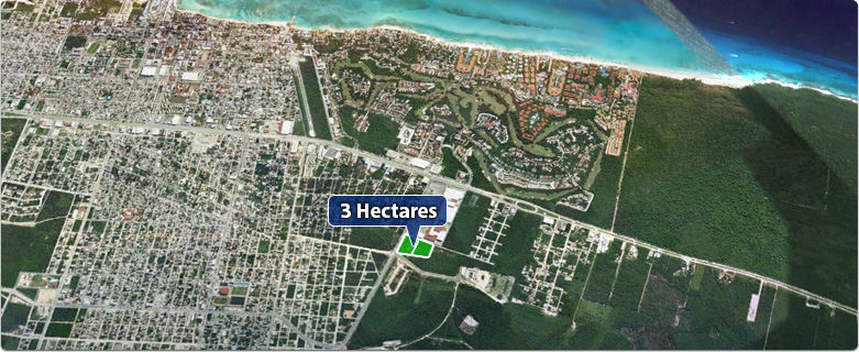3 Hectares Close to Centro Maya and Bambu Residencial