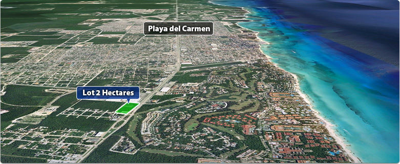 2 Hectare Lot South to Centro Maya
